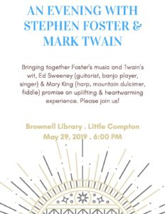 An Evening with Stephen Foster & Mark Twain